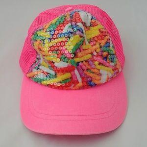 Bright pink baseball cap